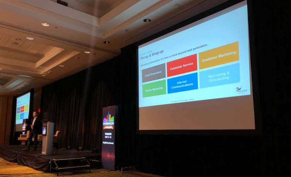 Kevin Butler of Goose Digital talking about customer journeys in marketing automation