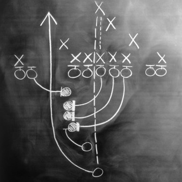 Account based marketing strategies are similar to football plays.